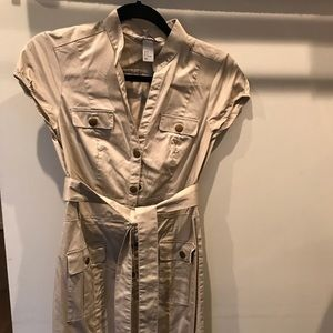 H&M cap sleeve shirt dress